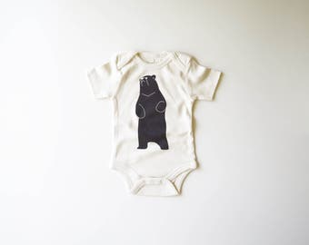 Be the Bear | Organic Baby Bodysuit | Baby Bear | Screen Printed Baby Clothing  | Baby One Piece | Organic Baby Clothes | Baby Tee