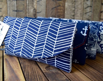 Navy Set of Smart Phone Wallets, Navy Bridesmaid Clutches, Navy Phone Wallet, Phone Wristlet, Navy Wallet, Bridesmaids Gifts, Wedding Clutch