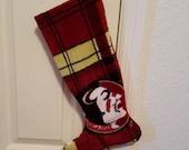 FSU Fleece Theme Christmas Stocking