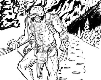 Wolverine Weapon X Ink Illustration