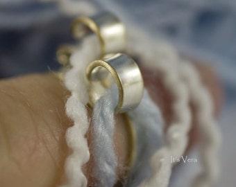 The oiginal knitting ring, knitting ring, 2 loop ring, 2 loop crochet ring, double yarn stranding ring, crochet tools, knitting accessories