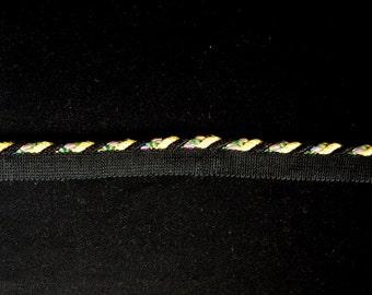 Black Green Decorative Lip Fabric Trim Cording