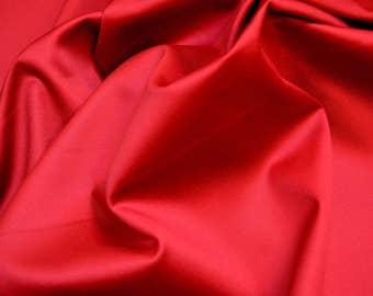 Red Combed Cotton Fabric Edgar Shalimar Crimson