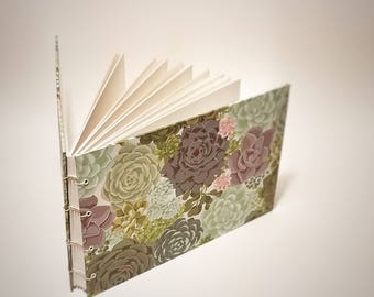 succulents wedding guest book - cactus wedding book - succulents wedding signature book - succulents wedding decor - blank wedding guestbook