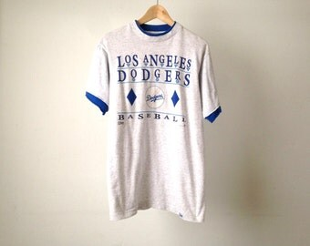 vintage two tone DODGERS mlb 90s LOS ANGELES  t-shirt