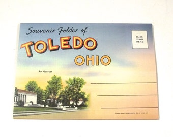 Toledo, Ohio Vintage Photo Postcard Booklet