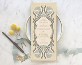 Wedding Invitations, Wedding Invitation Set, Save the Date, Gatsby Wedding, Rustic Wedding Invitation, Art Nouveau Wedding, Floral Wedding