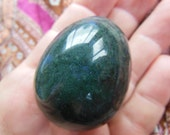 FLAWLESS Stunning Moss Agate Gemstone Crystal Egg Reiki Healing medium Yoni energy tool Massage
