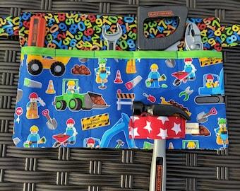 Tool Pouch Kids Lego Tool Belt Boys Tool Pouch Childs Tool Pouch Tool Apron Lego Boys Apron Lego Apron Handmade
