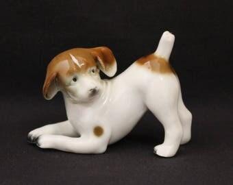 Vintage German Porcelain Dog Figurine (1314)