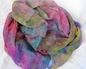 Silk Fabric , Silk Gauze Fabric , Hand dyed Silk Fabric, Ready to ship, 58 x 42 inches, Made in Australia by SallyAnnesSilks G38