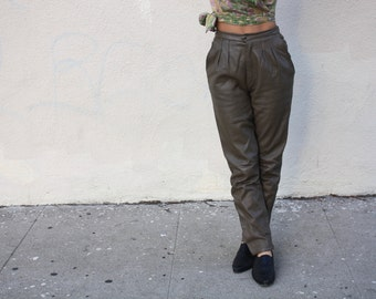 Vintage Leather Pants small 26