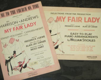 Vintage Sheet Music, My Fair Lady, Get Me to the Church on Time