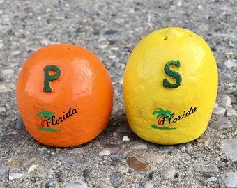 Vintage Florida Citrus Salt and Pepper Shakers