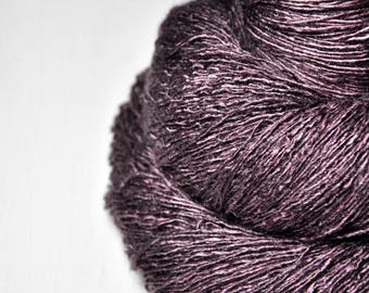 Violet coming to dust - Tussah Silk Lace Yarn