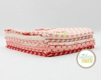 "Handmade - Pink - Half Yard Bundle - 7 - 18""x44"" Cuts - Bonnie and Camille - Moda Quilt Fabric"