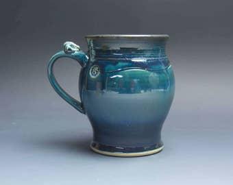 Pottery beer mug, ceramic mug stoneware beer stein 26 oz 3846