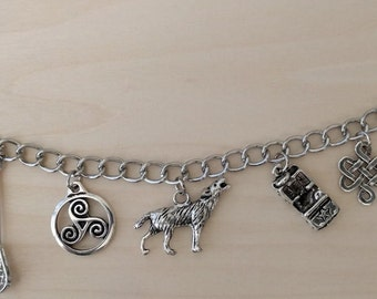 Teen Wolf inspired charm bracelet