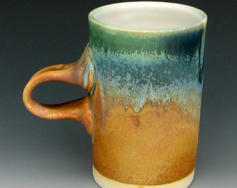 LARGE COFFEE MUG #23 - Ceramic Mug - Stoneware Mug - Pottery Mug - Tall Mug - Beer Mug - Handmade Mug - Tea Mug - Studio Pottery