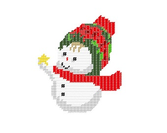 Plastic Canvas SnowBaby with Star Instant Download