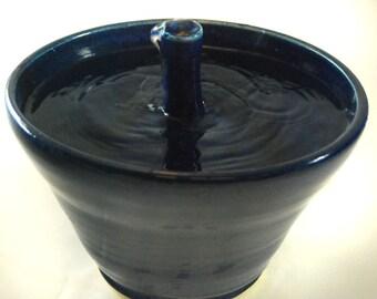 "Cat Drinking Fountain - ""Cobalt Springs"""