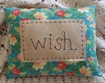 Prim Stitchery wish. Pillow ~OFG