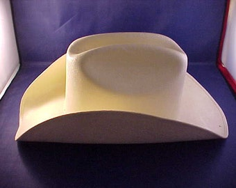 White Straw Cowboy Hat Made in Mexico Size 7 3/8