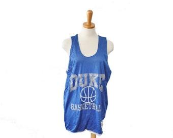 50% half off sale // Vintage 80s Duke Basketball Jersey // Champion // Men M, made in America