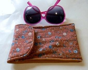 Copper Floral Sunglasses Case