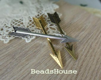 20%off: 4pcs Arrow Pendant  Charms / Pendants, 63 x11 mm