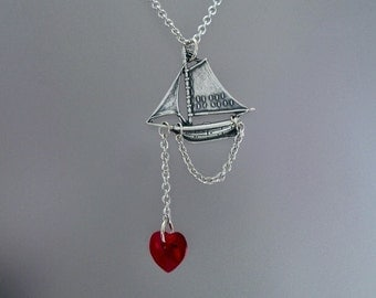 Silver Sailboat Necklace, Sailboat Charm, Sailor Necklace, Summer Necklace, Summer Outdoors, Boat Necklace, Ocean Jewelry, Hope Necklace