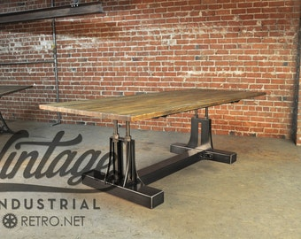 Vintage Industrial Post Industrial Table