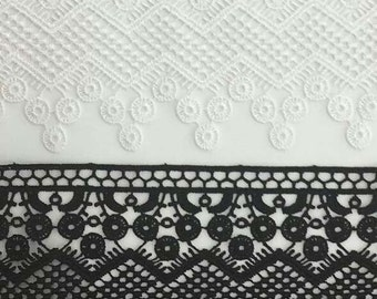 Venice lace in black for couture, apparel, home decor,  table cloths and embellishments 28 yards wholesale
