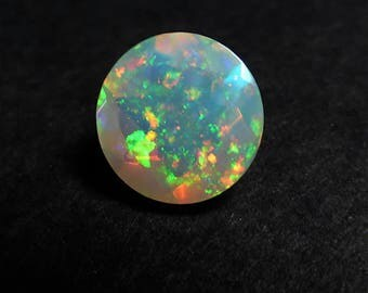8mm Ethiopian Opal Round Classic Cut Cabochon - Ring Pendant Stone - Natural - Opal  - Supplies - ZX47