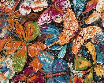 Butterfly art, Modern wall art, garden Butterflies, Nature art, metal prints,  Johno Prascak, Johnos Art Studio
