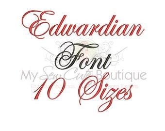 Embroidery Script Fonts - Cursive Machine Monogram BX Designs - 10 Sizes - Instant Download