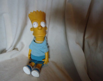 "Vintage 1990 Bart Simpson 11"" Doll with Matt Groening Stamped,  collectable"
