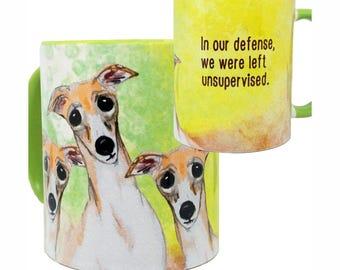 Unsupervised Greyhounds Mug by Pithitude