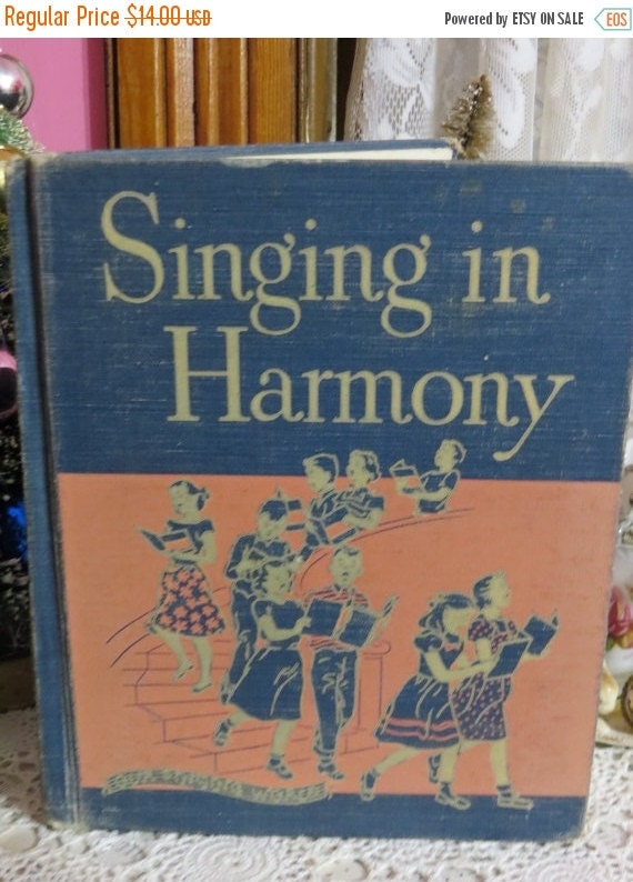 ON SALE Vintage Children Song Book-Ginn & Co-1951-Singing in Harmony-Primer-SChool