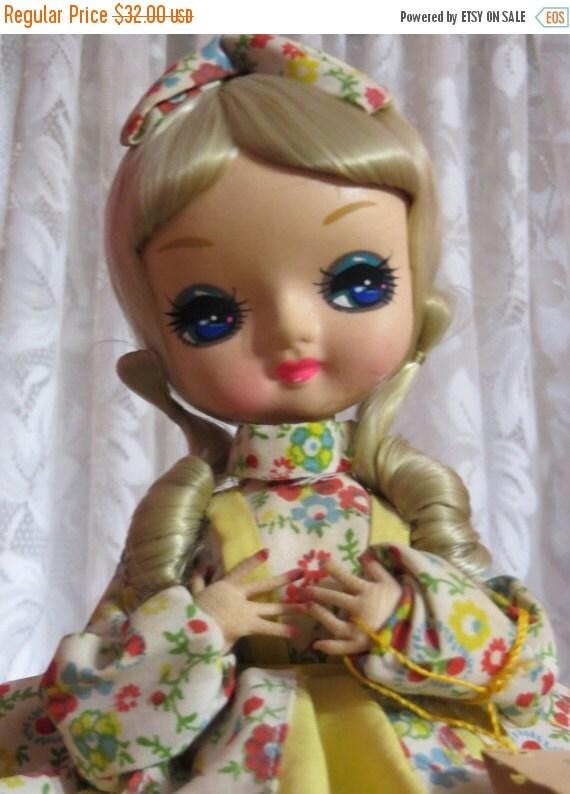 ON SALE Vintage Big Eye Kawaii Bradley Doll-Storybook Series-Mary Mary -1960's 70's