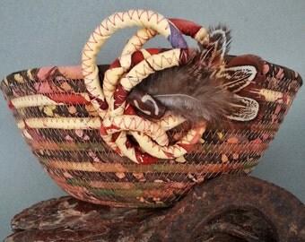 Coiled Basket, Canyon Echos, clothesline basket