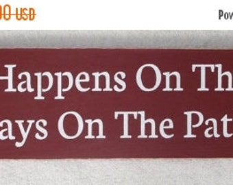 ON SALE TODAY What Happens On The Patio Stays On The Patio Wood Funny Sign Patio Sign You Pick Colors