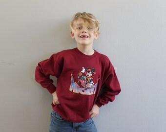 Vintage 90S Disney Mickey Mouse Skateboarding Sweatshirt