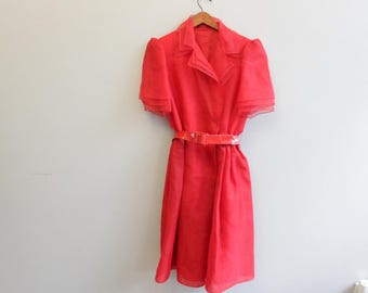 Vintage Red Dress By Travilla