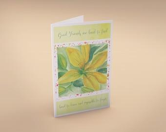 Customizable Friendship Greeting Card