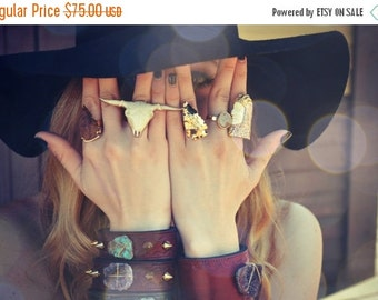 HOLIDAY SALE ARROWHEAD Rings /// Electroformed Gemstones /// Gold or Silver