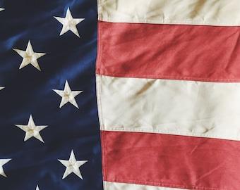 Large Vintage American Flag 6x10'