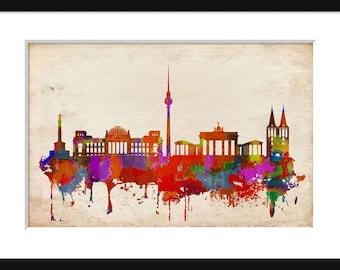Berlin Germany Skyline - Print - Poster