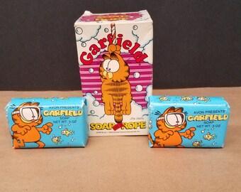 Set of 3 Vintage Garfield Soaps