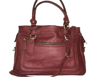 Leather Tote Bag, Leather Crossbody Bag, Leather Tote, Leather handbag, Leather Messenger Bag, Leather Tote, Leather Bag, Laptop bag, Rina!